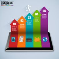 Abstract 3D isometric business Infographic