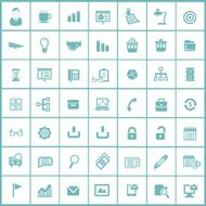 Office icons Blue version vector