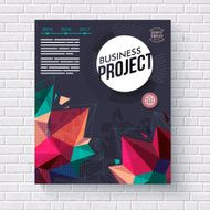Business project vector template