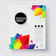 Stylish business design template on a brick wall