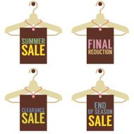 Clothes Hangers With Sale Tag