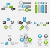 Collection of Infographic Templates for Business Vector Illustra N4