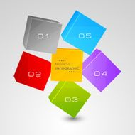 3D colorful squares for business infographic