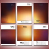 Abstract blurred background Brochure flyer or report for business templates