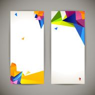 Set Of Bright Polygonal Geometric Backgrounds For Modern Design N2
