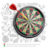 Creative Background With Dartboard