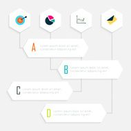 Abstract business info graphics template with icons N5