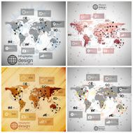 Infographics set templates for business design