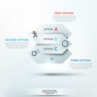 Modern infographics options banner N6