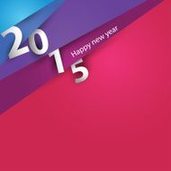Design corner paper for new year 2015