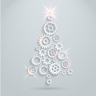 Vector gears christmas tree