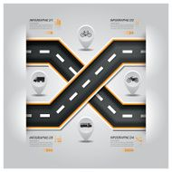 Road And Street Traffic Sign Business Infographic N2