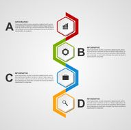 Abstract hexagon infographics or timeline template