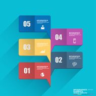 Business infographics bubble speech design template