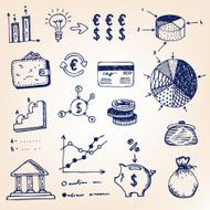 Graphics and diagrams hand-drawn illustration N3
