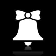 Bell icon on a black background - WhiteSeries