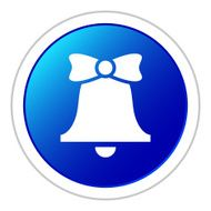 Bell icon on a round button - StickerSeries