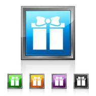 Gift Box icon on square buttons - SquaredSeries