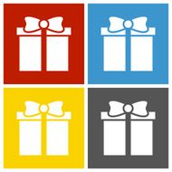 Gift Box icon on square buttons - SquareSeries