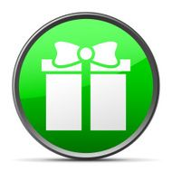 Gift Box icon on a round button - SlenderSeries