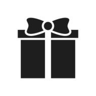 Gift Box icon on a white background - SingleSeries