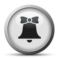 Bell icon on a silver button - SilverSeries