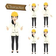 Engineer character set vector