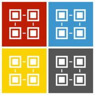 Flowchart icon on square buttons - SquareSeries N2