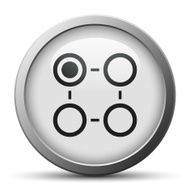 Flowchart icon on a silver button - SilverSeries