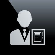 Businessman icon on a black background - CoreSeries N16
