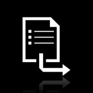 Document icon on a black background - White Series
