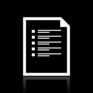 Document icon on a black background - White Series N2