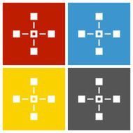Flowchart icon on square buttons - Square Series