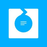Chevron Chart icon on a blue background - Smooth Series N3