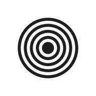 black and white icon of Target icon