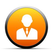 round button with icon of Businessman