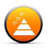 orange button with icon of Pyramid icon
