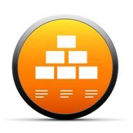 orange button with icon of Pyramid scheme