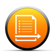 orange button with icon of Document and arrow