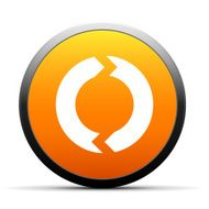 orange button with icon of round Chevron Chart