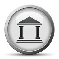 silver button with icon of Bank