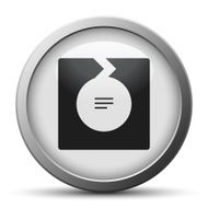 silver button with icon of Chevron chart