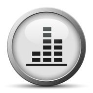 silver button with icon of Bar Graph