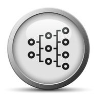 silver button with icon of Organization Chart