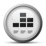 silver button with icon of Bar flowchart