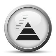 silver button with icon of Pyramid