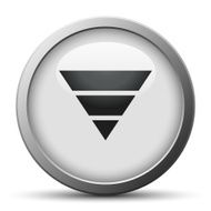 silver button with icon of inverted Pyramid