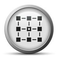 silver button with icon of Flowsheet