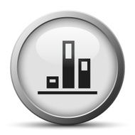 silver button with icon of Bar chart