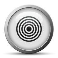 silver button with icon of Target